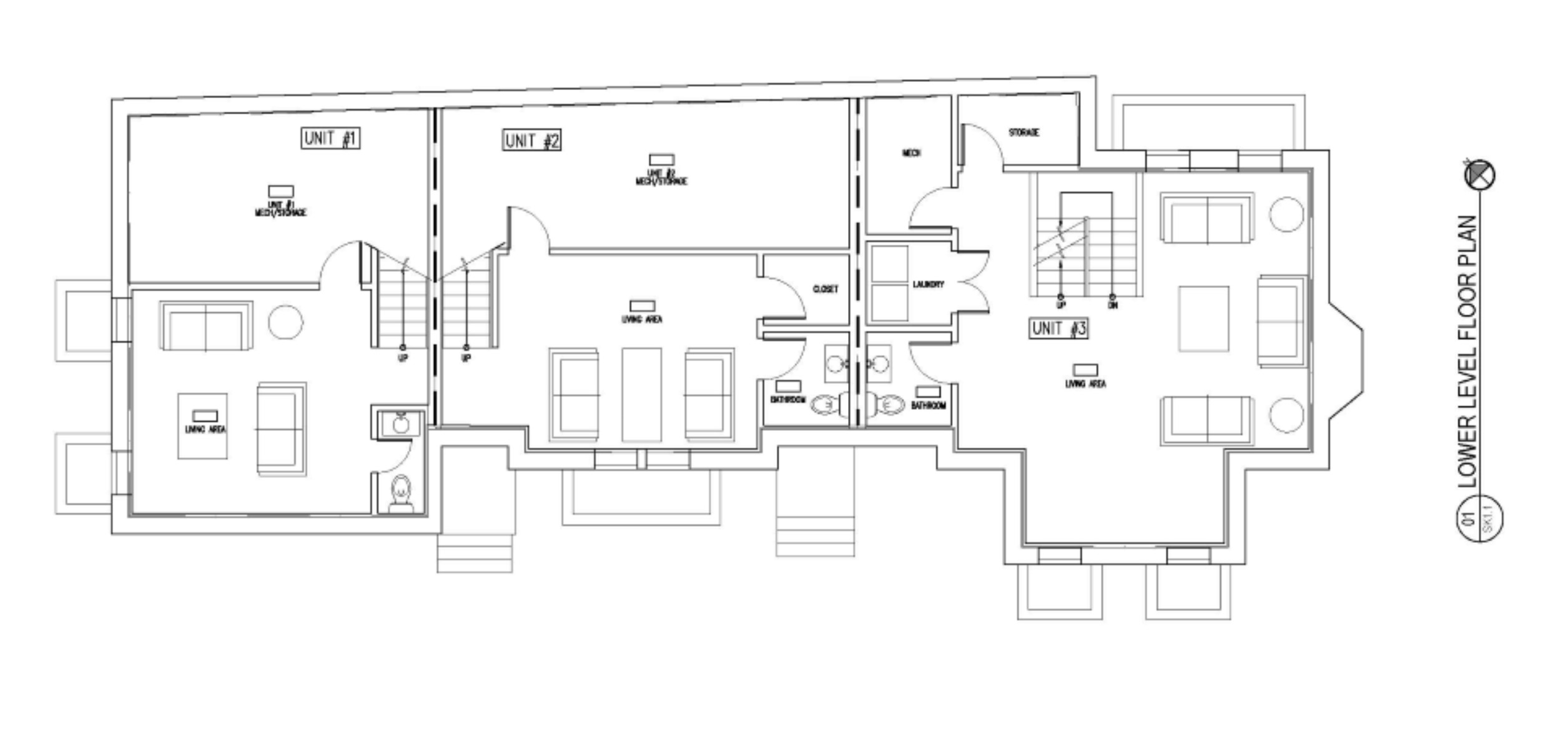 LOWER LEVEL FLOOR PLANS AT 75 RUSH ST IN SOMERVILLE