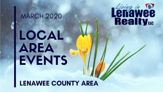 Lenawee County March 2020 Events
