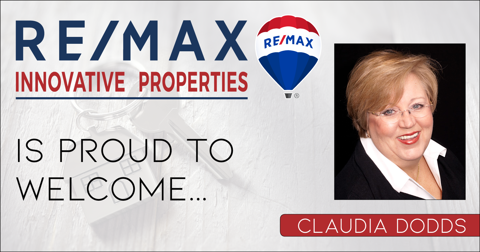 RE/MAX Innovative Properties is Proud to Welcome Claudia Dodds