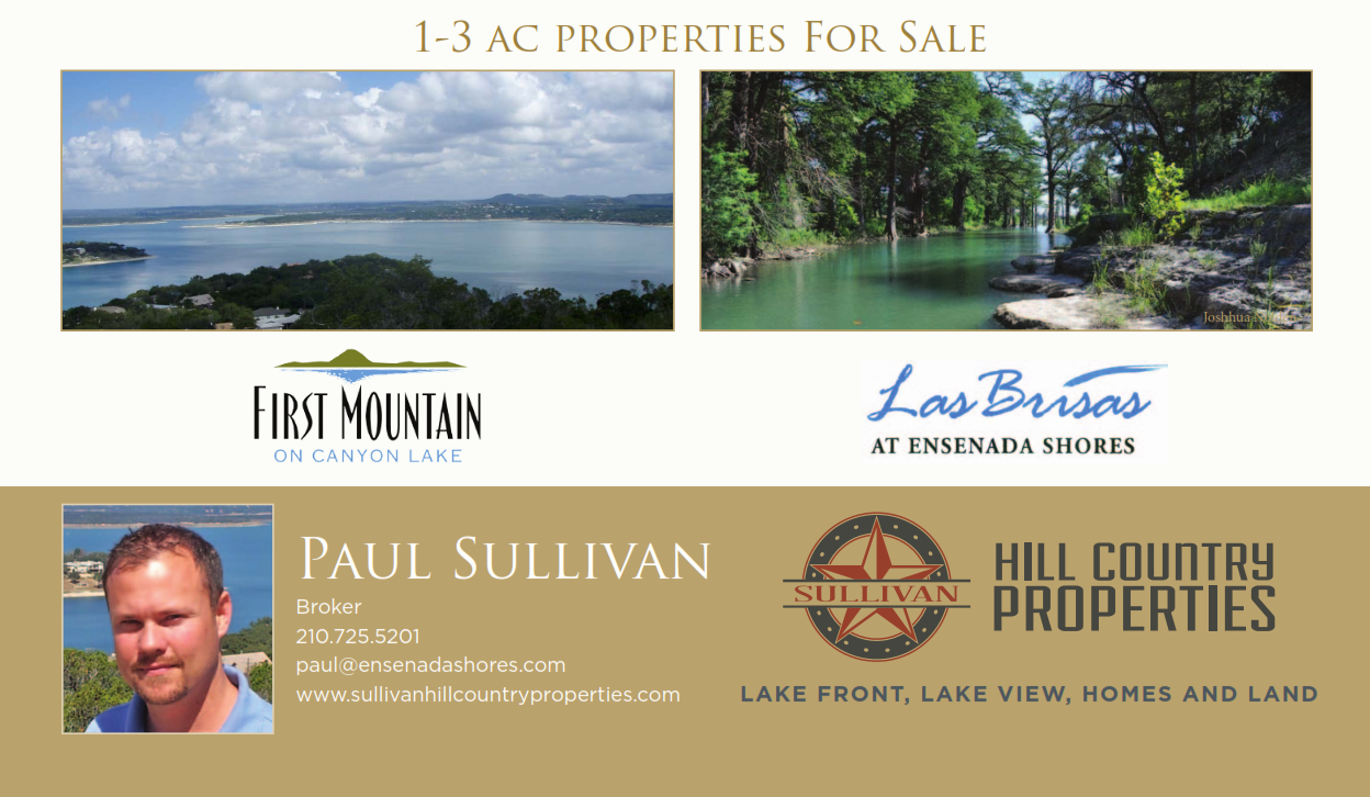 First Mountain on Canyon Lake Closeout LAND SALE!